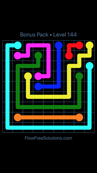 Solution and Answer to the Puzzle for Flow Free Bonus Pack Level 24