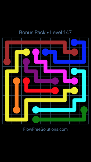 Solution and Answer to the Puzzle for Flow Free Bonus Pack Level 27