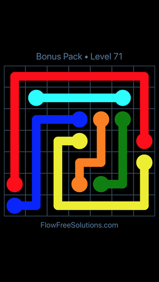 Solution and Answer to the Puzzle for Flow Free Bonus Pack Level 11