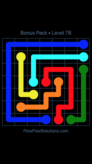 Solution and Answer to the Puzzle for Flow Free Bonus Pack Level 18