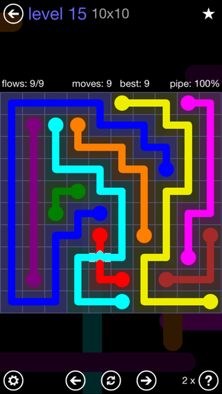 Solution and Answer to the Puzzle for Bridges 10mania Pack Set 10x10 Level 15