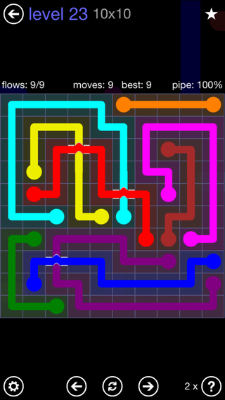 Solution and Answer to the Puzzle for Bridges 10mania Pack Set 10x10 Level 23