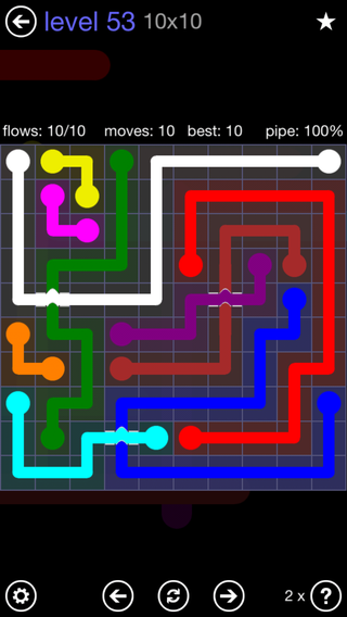 Solution and Answer to the Puzzle for Bridges 10mania Pack Set 10x10 Level 53