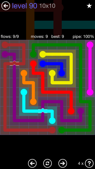 Solution and Answer to the Puzzle for Bridges 10mania Pack Set 10x10 Level 90