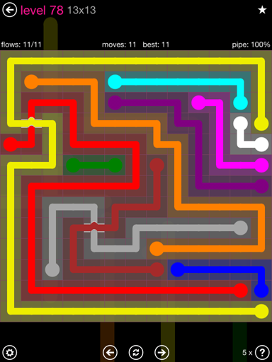 Solution and Answer to the Puzzle for Bridges 13mania Pack Set 13x13 Level 78