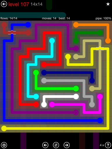 Solution and Answer to the Puzzle for Bridges 14mania Pack Set 14x14 Level 107