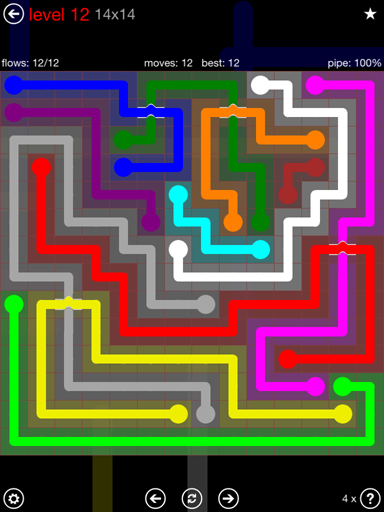 Solution and Answer to the Puzzle for Bridges 14mania Pack Set 14x14 Level 12