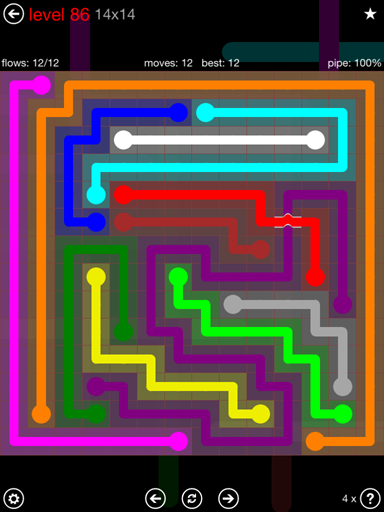 Solution and Answer to the Puzzle for Bridges 14mania Pack Set 14x14 Level 86