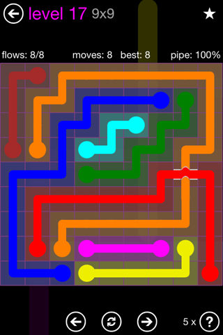 Solution and Answer to the Puzzle for Bridges 9mania Pack Set 9x9 Level 17