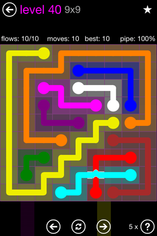 Solution and Answer to the Puzzle for Bridges 9mania Pack Set 9x9 Level 40