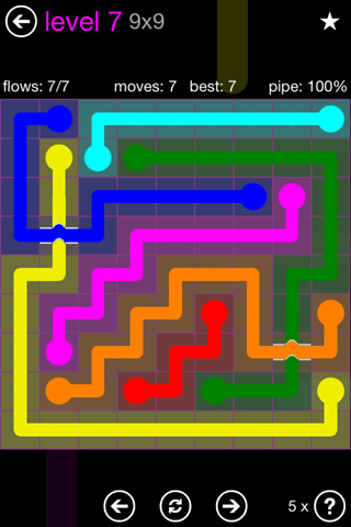Solution and Answer to the Puzzle for Bridges 9mania Pack Set 9x9 Level 7