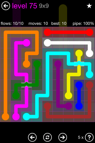 Solution and Answer to the Puzzle for Bridges 9mania Pack Set 9x9 Level 75