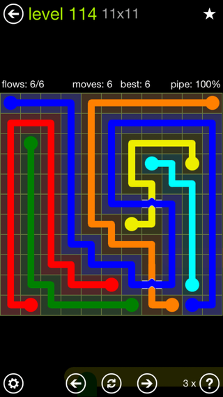 Solution and Answer to the Puzzle for Bridges Extreme Pack Set 8x8 Level 114
