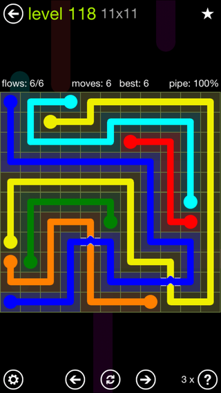 Solution and Answer to the Puzzle for Bridges Extreme Pack Set 8x8 Level 118
