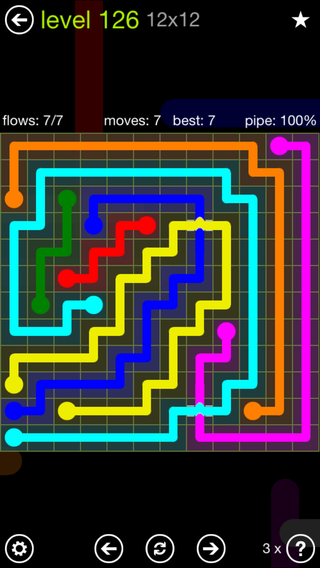 Solution and Answer to the Puzzle for Bridges Extreme Pack Set 8x8 Level 126