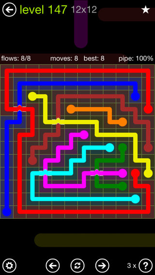 Solution and Answer to the Puzzle for Bridges Extreme Pack Set 8x8 Level 147