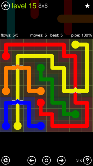 Solution and Answer to the Puzzle for Bridges Extreme Pack Set 8x8 Level 15