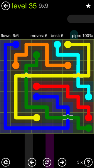 Solution and Answer to the Puzzle for Bridges Extreme Pack Set 8x8 Level 35