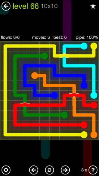 Solution and Answer to the Puzzle for Bridges Extreme Pack Set 8x8 Level 66
