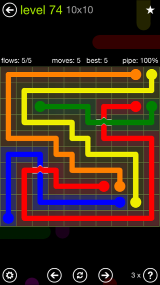 Solution and Answer to the Puzzle for Bridges Extreme Pack Set 8x8 Level 74