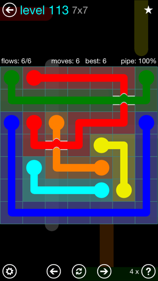 Solution and Answer to the Puzzle for Bridges Interval Pack Set 6x6 Level 113