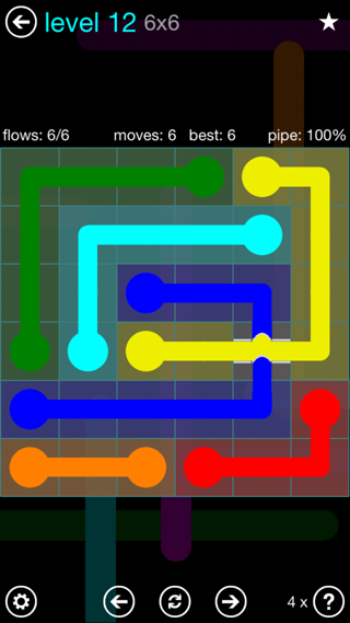 Solution and Answer to the Puzzle for Bridges Interval Pack Set 6x6 Level 12