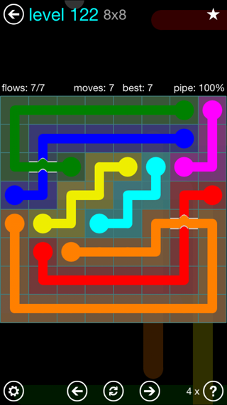Solution and Answer to the Puzzle for Bridges Interval Pack Set 6x6 Level 122