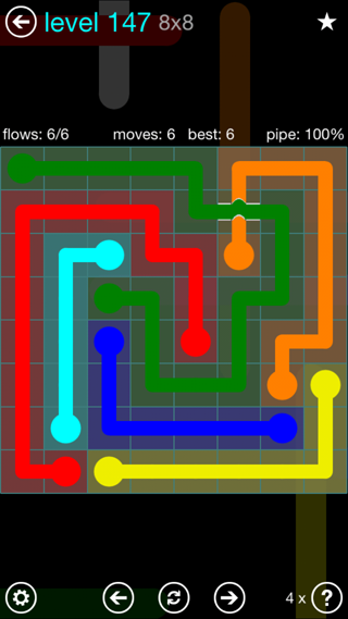 Solution and Answer to the Puzzle for Bridges Interval Pack Set 6x6 Level 147