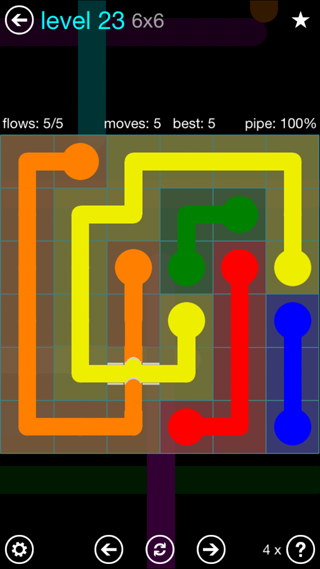 Solution and Answer to the Puzzle for Bridges Interval Pack Set 6x6 Level 23