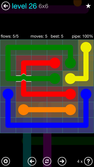 Solution and Answer to the Puzzle for Bridges Interval Pack Set 6x6 Level 26