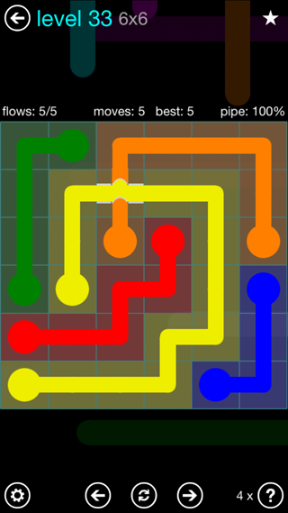 Solution and Answer to the Puzzle for Bridges Interval Pack Set 6x6 Level 33