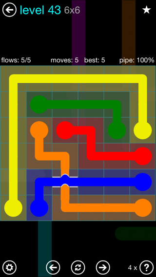 Solution and Answer to the Puzzle for Bridges Interval Pack Set 6x6 Level 43