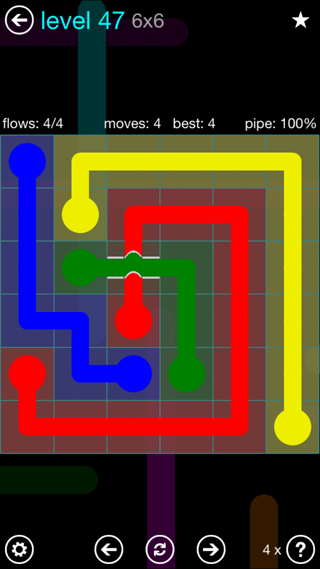 Solution and Answer to the Puzzle for Bridges Interval Pack Set 6x6 Level 47