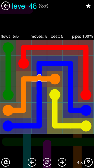 Solution and Answer to the Puzzle for Bridges Interval Pack Set 6x6 Level 48