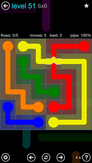 Solution and Answer to the Puzzle for Bridges Interval Pack Set 6x6 Level 51