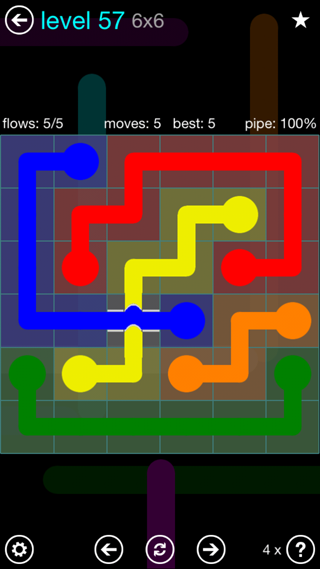 Solution and Answer to the Puzzle for Bridges Interval Pack Set 6x6 Level 57