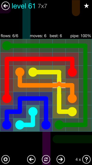 Solution and Answer to the Puzzle for Bridges Interval Pack Set 6x6 Level 61