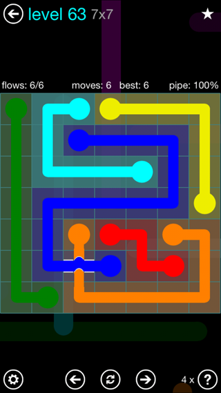 Solution and Answer to the Puzzle for Bridges Interval Pack Set 6x6 Level 63
