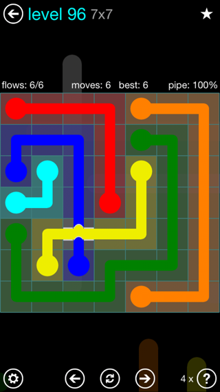 Solution and Answer to the Puzzle for Bridges Interval Pack Set 6x6 Level 96