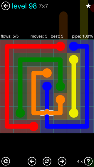 Solution and Answer to the Puzzle for Bridges Interval Pack Set 6x6 Level 98