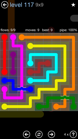 Solution and Answer to the Puzzle for Bridges Rainbow Pack Set 5x5 Level 117