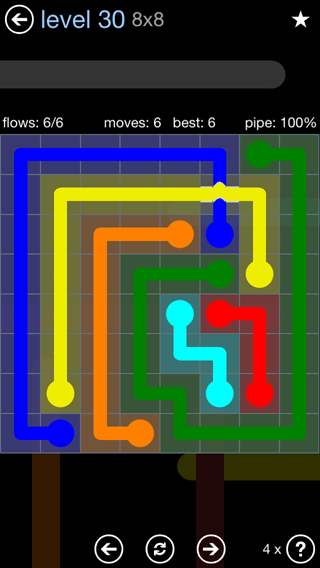 Solution and Answer to the Puzzle for Bridges Rainbow Pack Set 5x5 Level 30
