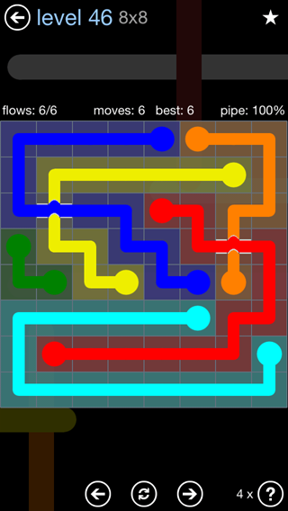 Solution and Answer to the Puzzle for Bridges Rainbow Pack Set 5x5 Level 46