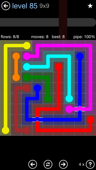 Solution and Answer to the Puzzle for Bridges Rainbow Pack Set 5x5 Level 85