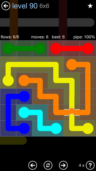 Solution and Answer to the Puzzle for Bridges Rainbow Pack Set 5x5 Level 90