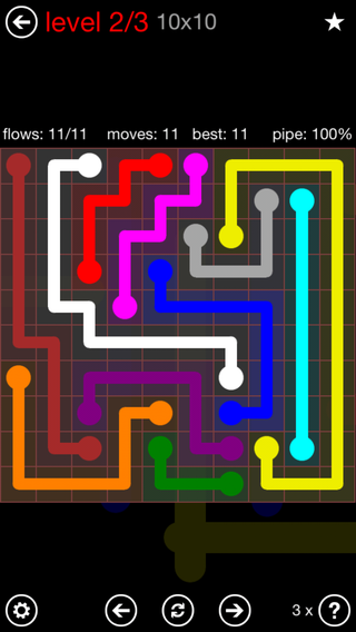 Flow free daily puzzles of December 2 Games Android