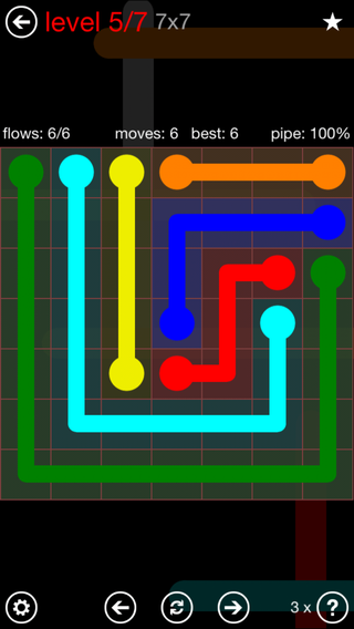 Wednesday, November 1, 2017 Flow Free Level 6 Daily Puzzle ...