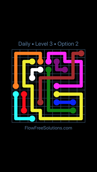 Solution and Answer to the Puzzle for Bridges Date Thursday, March 17, 2016 Level 3