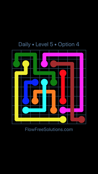 Solution and Answer to the Puzzle for Bridges Date Saturday, April 14, 2018 Level 5