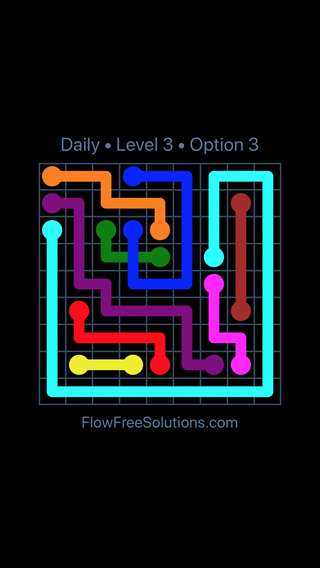 Solution and Answer to the Puzzle for Bridges Date Sunday, April 15, 2018 Level 3